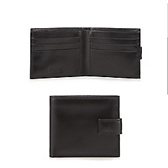 Mantaray - Black leather wallet in a gift box