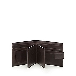 J by Jasper Conran - Brown leather double swing wallet in a gift box