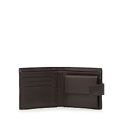 J by Jasper Conran - Brown leather plate detail billfold wallet in a gift box