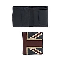 The Collection - Red leather union jack fold out wallet