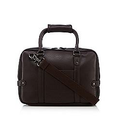 Red Herring - Brown PU laptop bag