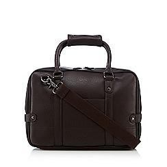 Red Herring - Brown PU laptop bag