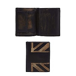 The Collection - Black distressed leather wallet