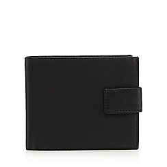 The Collection - Black leather fold out pass wallet