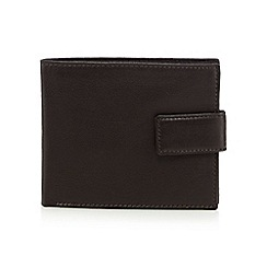 The Collection - Brown leather fold out pass wallet