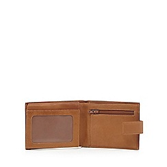 The Collection - Tan leather coin pocket wallet