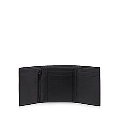 The Collection - Black leather small trifold wallet