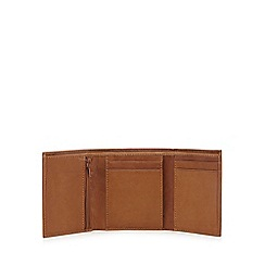 The Collection - Tan leather trifold wallet
