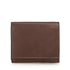 The Collection - Brown leather small trifold wallet