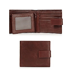 RJR.John Rocha - Brown leather fold-out wallet in a gift tin