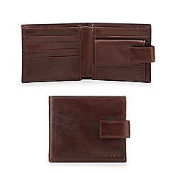 RJR.John Rocha - Brown leather wallet in a gift box