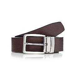 J by Jasper Conran - Designer brown grained leather reversible belt