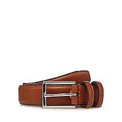 The Collection - Tan double keeper leather belt