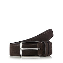 The Collection - Brown leather curved buckle belt