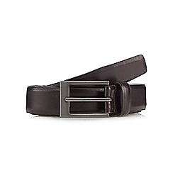 The Collection - Big and tall brown leather belt