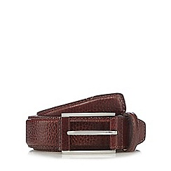 J by Jasper Conran - Big and tall brown leather pin buckle belt