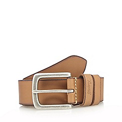 Mantaray - Light tan burnished leather belt