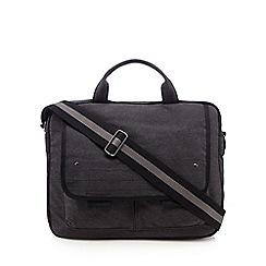 Mantaray - Grey canvas laptop bag