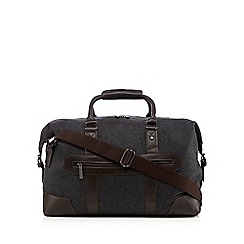 Jeff Banks - Grey wool blend holdall