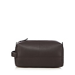 RJR.John Rocha - Brown leather wash bag