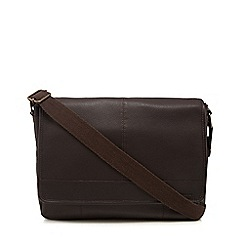 RJR.John Rocha - Brown popper pocket despatch bag