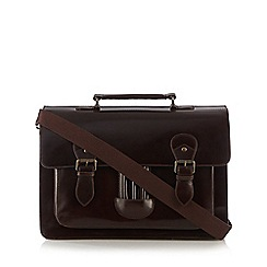 RJR.John Rocha - Brown leather satchel bag