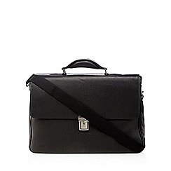 J by Jasper Conran - Black leather briefcase