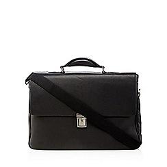 J by Jasper Conran - Black leather briefcase