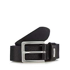 Calvin Klein - Black leather pin buckle belt