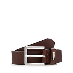Calvin Klein - Brown leather pin buckle belt