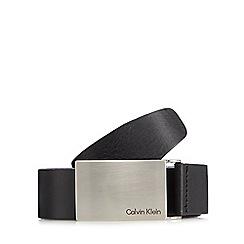 Calvin Klein - Black logo plate belt