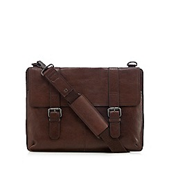 J by Jasper Conran - Brown leather laptop briefcase