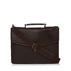 RJR.John Rocha - Brown double compartment briefcase