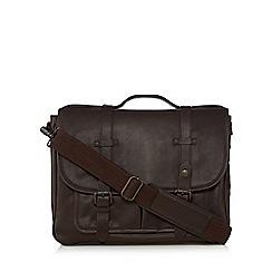 RJR.John Rocha - Brown buttoned satchel bag