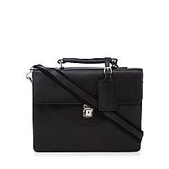 Hammond & Co. by Patrick Grant - Black leather debossed briefcase