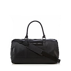 Red Herring - Black PU holdall bag