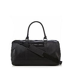 Red Herring - Black PU holdall bag