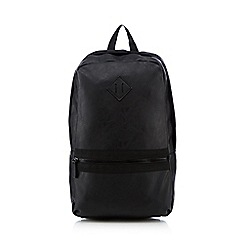 Red Herring - Black leather-look backpack