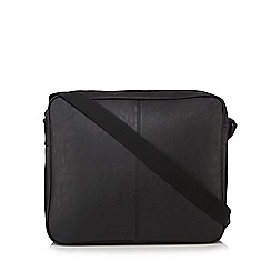 Red Herring - Black zip messenger bag