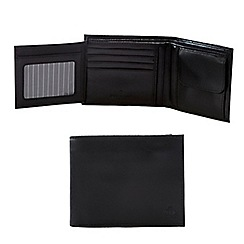 Jeff Banks - Black leather wallet in cufflink box in a gift box