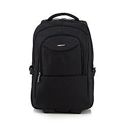 Kingsons - Black wheeled suitcase