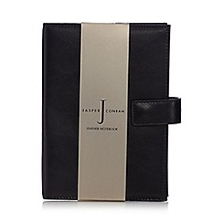 J by Jasper Conran - Black leather notebook