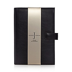 J by Jasper Conran - Black leather A5 notebook