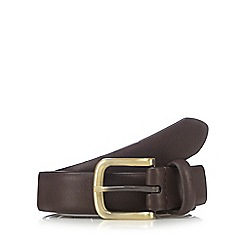 Jeff Banks - Brown leather pin buckle belt