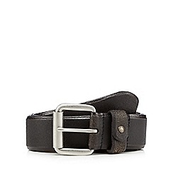 Mantaray - Black leather pin buckle belt