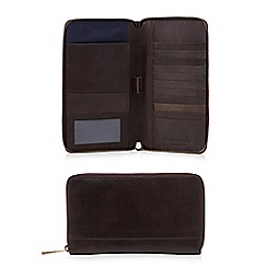 Hammond & Co. by Patrick Grant - Brown leather travel wallet