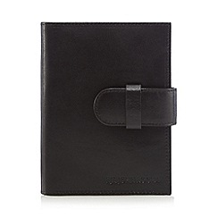 RJR.John Rocha - Black Italian leather passport cover in a gift box