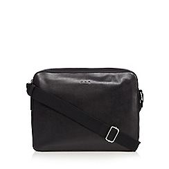 Osprey - Black leather messenger bag