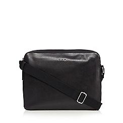 Osprey - Black leather messenger bag