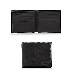 Osprey - Black leather fold out ID window wallet in a gift box